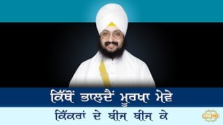 Dharna - Kithon Bhaldain Moorkha Meve, Kikran de beej beej ke | Bhai Ranjit Singh Dhadrianwale