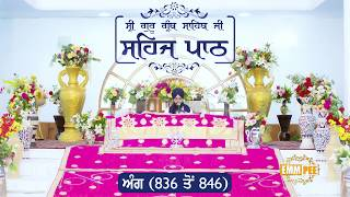 Angg  836 to 846 - Sehaj Pathh Shri Guru Granth Sahib Punjabi Punjabi | DhadrianWale