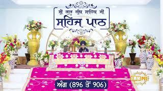 Angg  896 to 906 - Sehaj Pathh Shri Guru Granth Sahib Punjabi Punjabi | Bhai Ranjit Singh Dhadrianwale