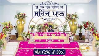 Angg  296 to 306 - Sehaj Pathh Shri Guru Granth Sahib | Bhai Ranjit Singh Dhadrianwale