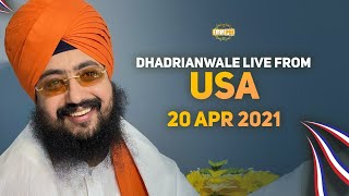 20 April 2021 Dhadrianwale LIVE USA Diwan
