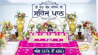 Angg  676 to 686 - Sehaj Pathh Shri Guru Granth Sahib Punjabi | Dhadrian Wale