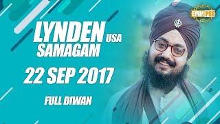 LYNDEN DIWAN  22 Sept 2017 - Full Diwan | Dhadrian Wale