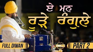 Part 2 - Eh Man Roorhe Rangle - Full Diwan | Bhai Ranjit Singh Dhadrianwale