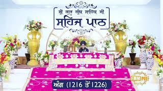 Angg  1216 to 1226 - Sehaj Pathh Shri Guru Granth Sahib Punjabi Punjabi | Dhadrian Wale