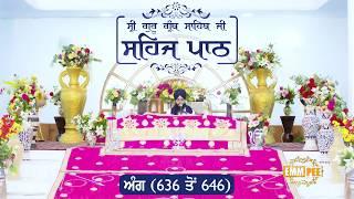 Angg  636 to 646 - Sehaj Pathh Shri Guru Granth Sahib | Bhai Ranjit Singh Dhadrianwale