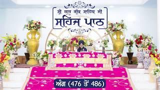 Angg  476 to 486 - Sehaj Pathh Shri Guru Granth Sahib | Bhai Ranjit Singh Dhadrianwale